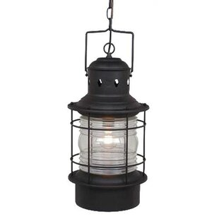 Beachcrest Home Bonaventure 1-Light Outdoor Hanging Lantern