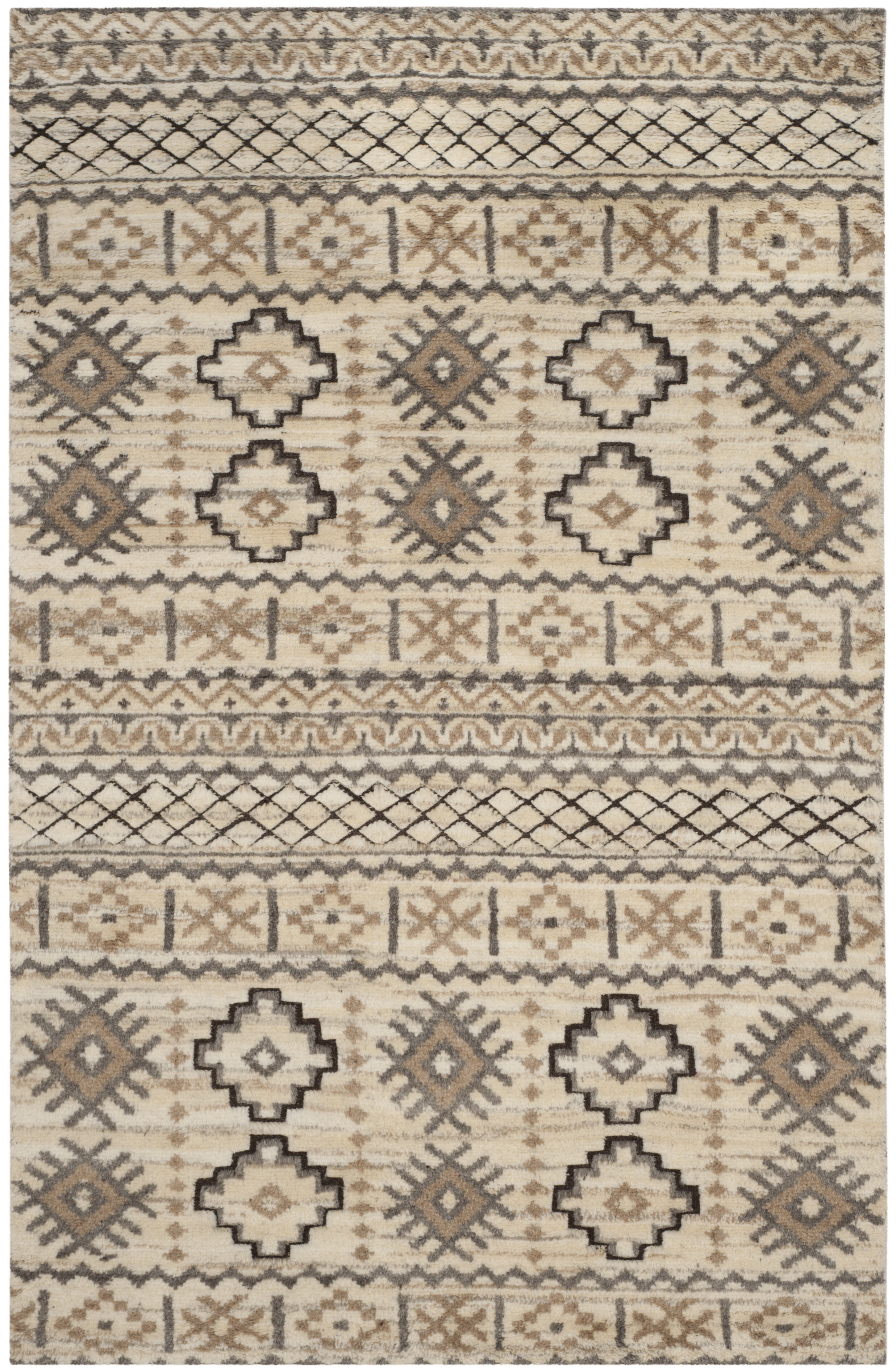 Bungalow Rose Palni Hand Knotted Wool Beige Area Rug Wayfair
