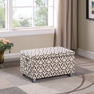 Beauregard Stencil Upholstered Storage Bench
