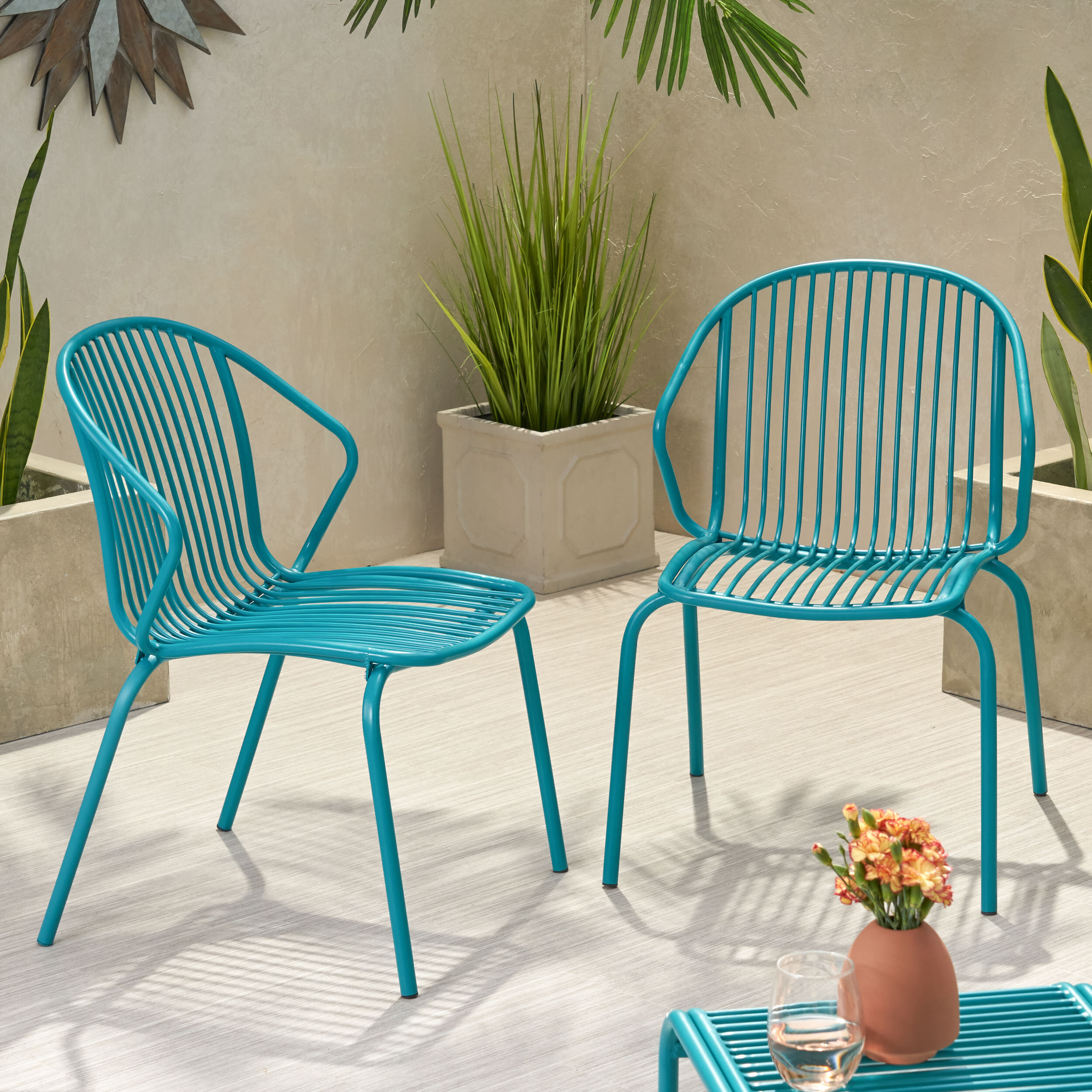Corbeil Outdoor Modern Patio Chair
