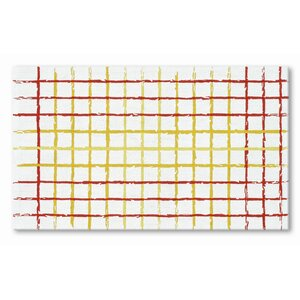 Hand-Woven Red/Yelow Area Rug