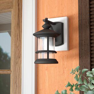 Best Review Channelle 1-Light Outdoor Wall Lantern By World Menagerie