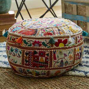 Reviews Carpenter Ottoman by Bungalow Rose