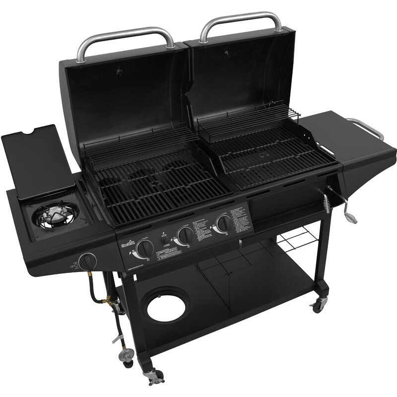 3 Burner Deluxe Gas Charcoal Combo With Side