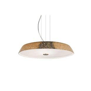 Brayden Studio Speier Modern Round Suspension 1-Light LED Dome Pendant