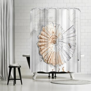 PI Creative Art Blush Shell Ii Single Shower Curtain