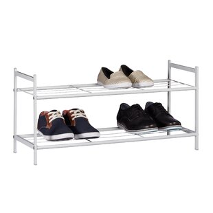 2 Tier Shoe Rack By Rebrilliant