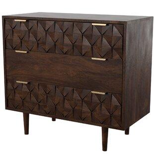 Banach 3 Drawer Dresser by Mercury Row