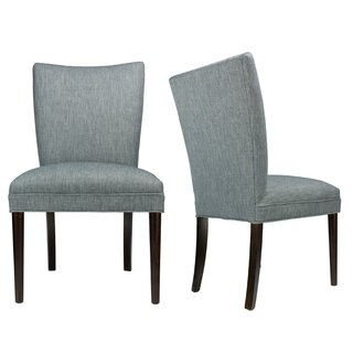 Alex Lucky Spring Seating Double Dow Roll-Back Upholstered Parsons Chair (Set of 2) by Sole Designs