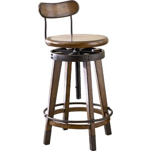 Omari Adjustable Height Swivel Bar Stool ..