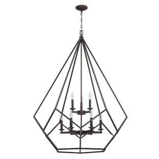 Gracie Oaks Massengill 9-Light Geometric Chandelier