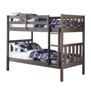 Harriet Bee Chrisley Wide Mission Twin over Twin Bunk Bed