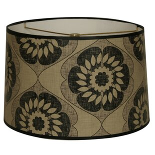 Two-Tone Flower Designer Hard Back 10 Paper Drum Lamp Shade