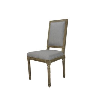 Auclair Weathered Upholstered Dining Chair (Set of 2)