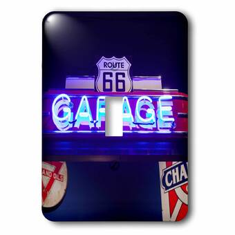 3drose Route 66 Museum 1 Gang Toggle Light Switch Wall Plate Wayfair