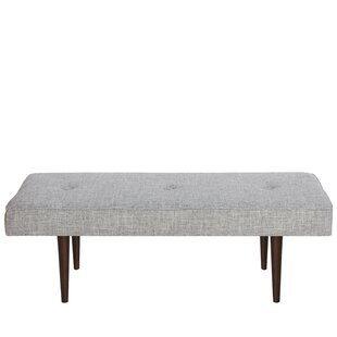 Cool Foweler Tufted Woven Linen Upholstered Bench Inzonedesignstudio Interior Chair Design Inzonedesignstudiocom