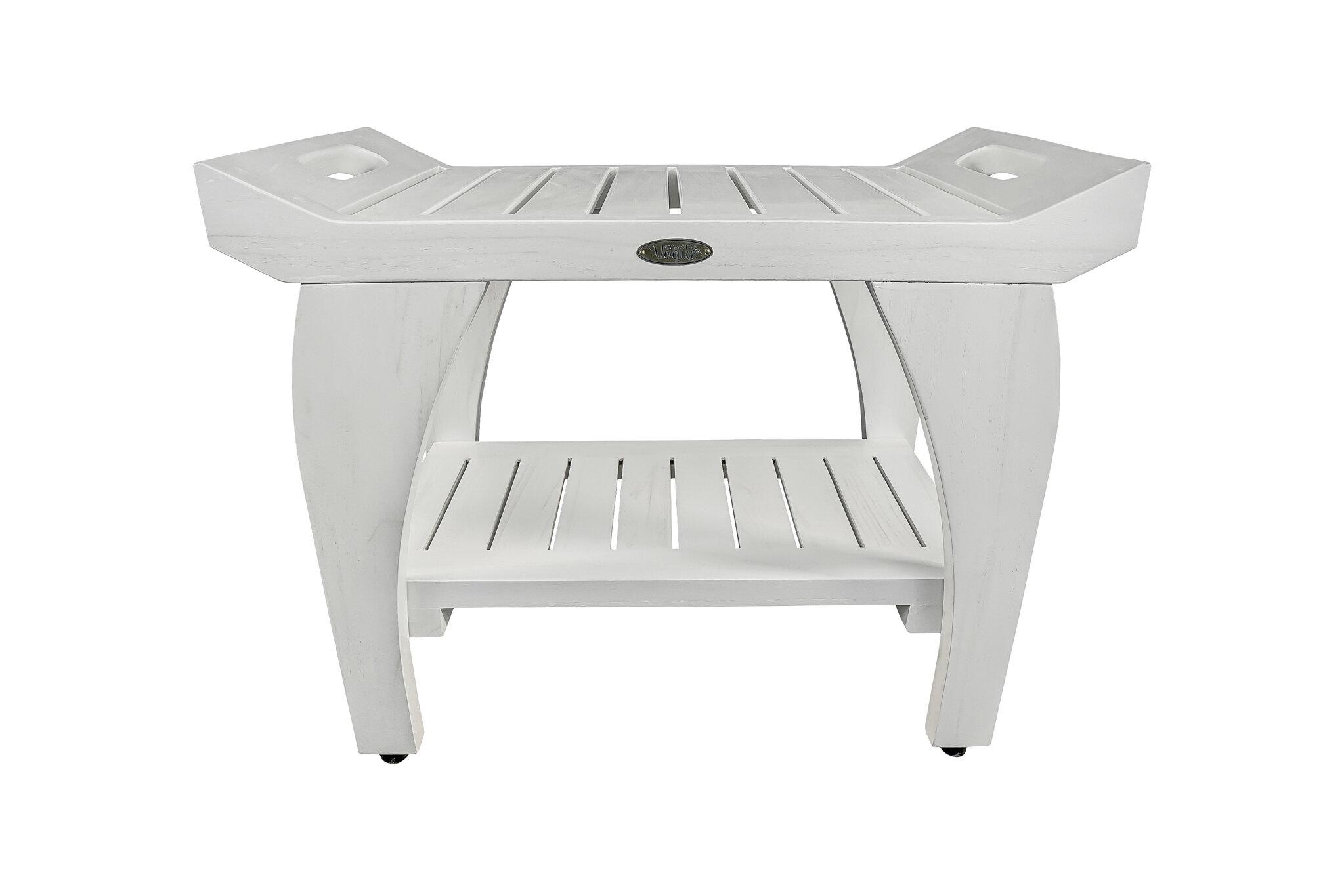 Ecodecors Tranquility 24 W Teak Shower Bench Reviews Wayfair