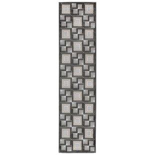 Deals Kari Boxes Black/Gray Area Rug ByWrought Studio