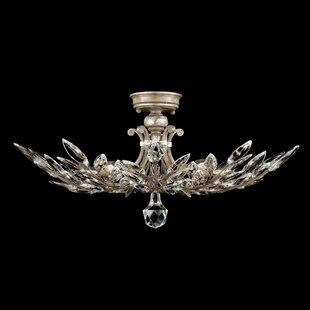 Crystal Laurel 5-Light Semi Flush Mount by Fine Art Lamps
