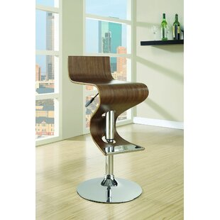 Meribelle Swivel Adjustable Height Bar Stool by Orren Ellis