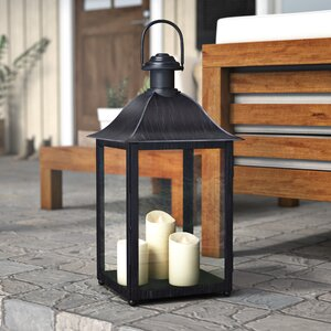 Outdoor Glass and Metal Lantern