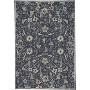 Compare prices Julia Garden Maze Blue Outdoor Area Rug By August Grove