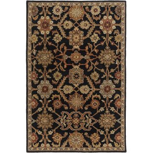 Philson Hand-Tufted Wool Black/Rust/Sage Area Rug by Birch Lane™ Heritage