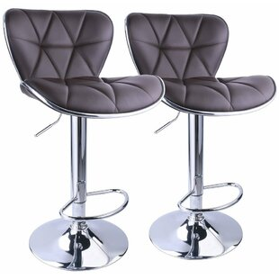 Ferri Back Adjustable Height Swivel Bar Stool Wrought Studio