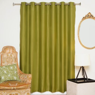 "Solid Blackout Thermal Grommet Single Curtain Panel Blackout Curtain Size per Panel: 100"" W x 108"" L, Color: Olive"