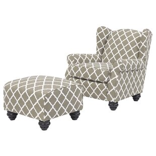 Roselle Armchair and Ottoman b..