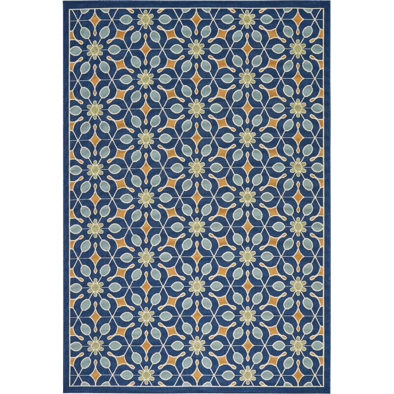 Sol 72 Outdoor Monterey Navy Indoor Outdoor Area Rug Reviews Wayfair