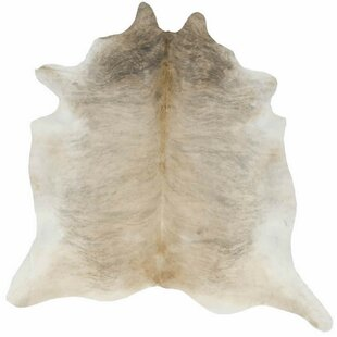 Lettie Hand Woven Cowhide Tan Area Rug
