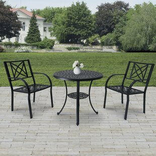Charlton Home Kelty 3 Piece Bistro Set (Set of 3)