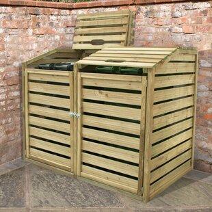 Cuadra Wooden Double Bin Store By Rebrilliant