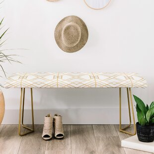 East Urban Home Faux Leather Bench