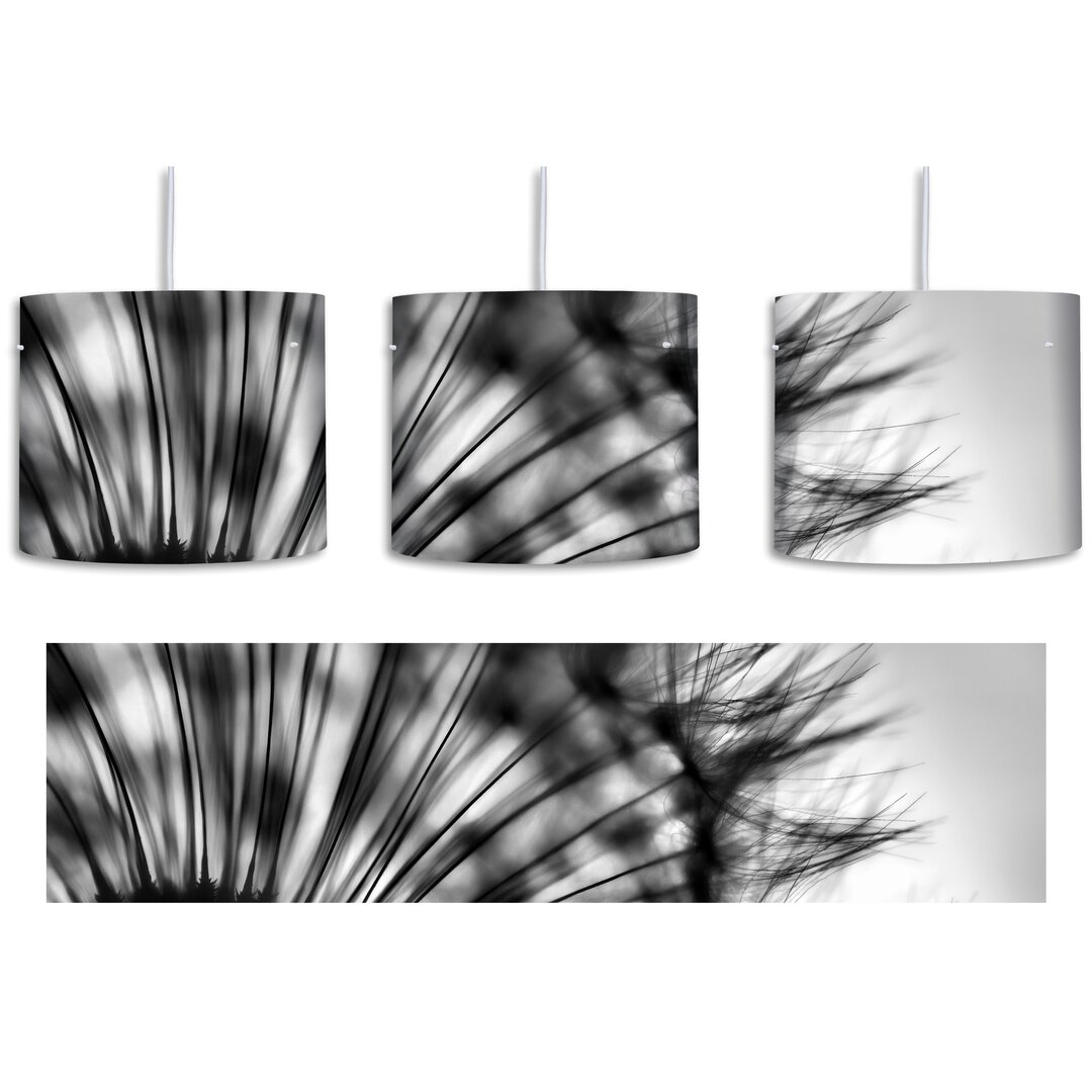 Dandelion on Grey Background 1-Light Drum Pendant
