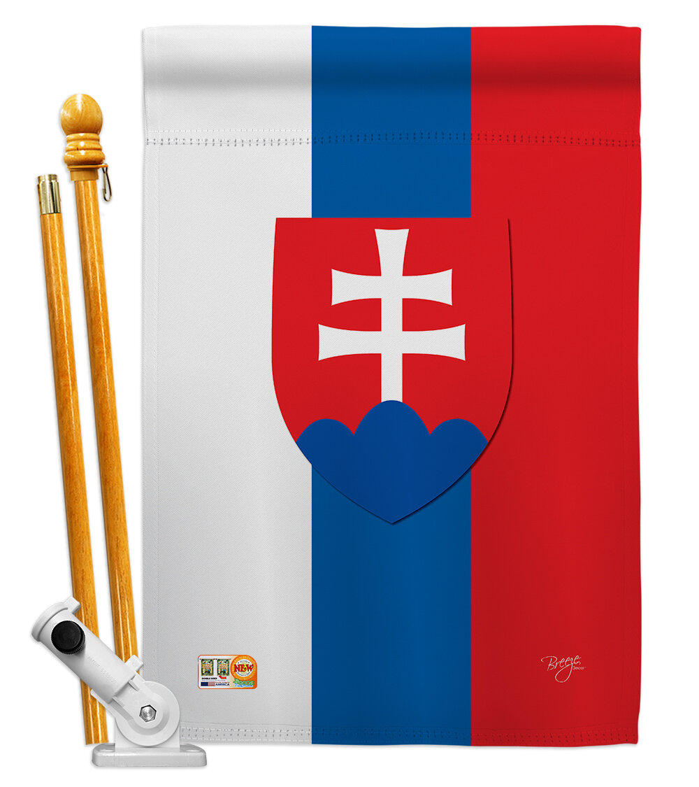 Breeze Decor Slovakia Flags Of The World Nationality Impressions Decorative Verticalflag Set Wayfair