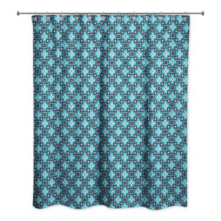 Criswell Squares Single Shower Curtain