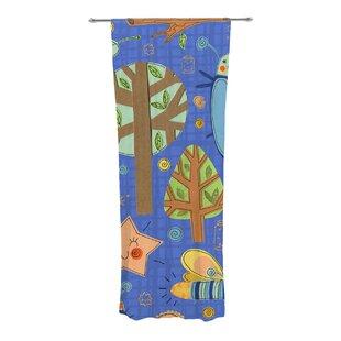 Lightning Bug Nature Floral Sheer Rod Pocket Curtain Panels Set Of 2