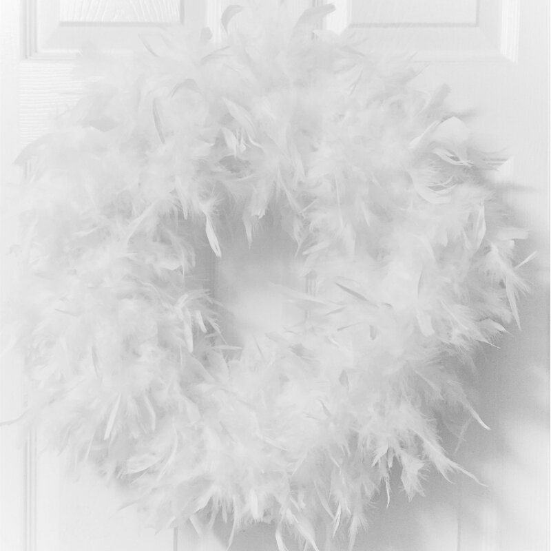 "23"" Feather Wreath"