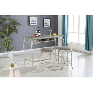 Brookeville 3 Piece Counter Height Dining Set Ophelia & Co.