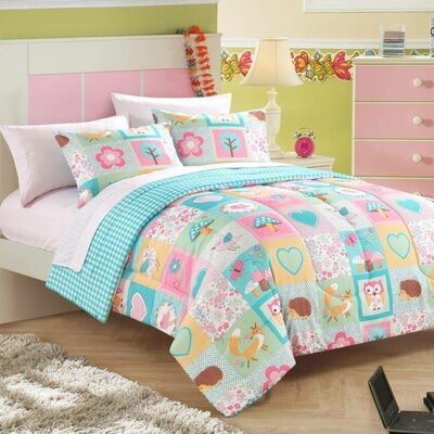 enfield bed in a bag toddler comforter set in woodland friends