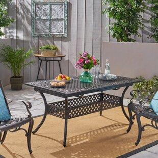 Ginsberg Metal Dining Table by Fleur De Lis Living