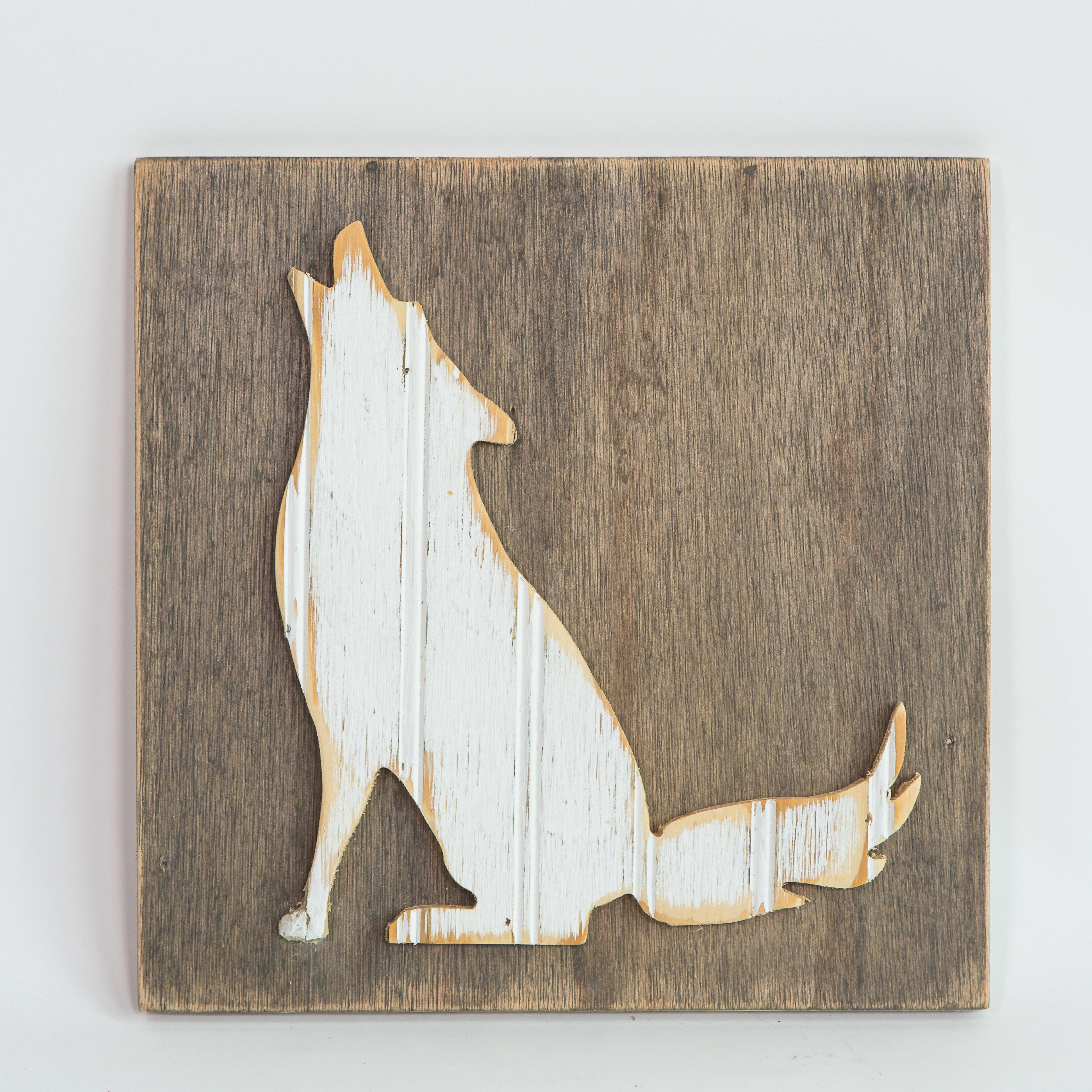 Boho Coyote Wooden Wall Decor