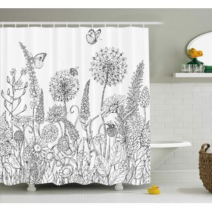 Read Reviews Bangert Flowers Garden Scenery Shower Curtain By Wrought Studio
