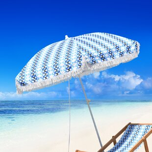 Butler Beach Fiberglass Portable 6.5' Beach Umbrella by Bungalow Rose