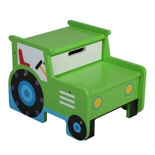 Olive Kids Tractor Step Stool with Storage by Wildkin