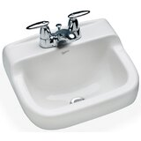 """Spruce Cove Vitreous China 17"""" Wall Mount Bathroom Sink with Overflow"""
