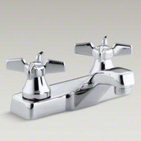 K-7404-KE-CP Kohler Triton Centerset Commercial Bathroom Sink Faucet ...