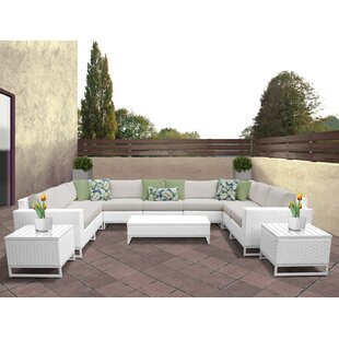 Miami 12 Piece Sectional Seating Group with Cushions